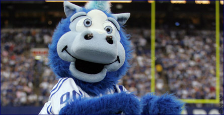 Indianapolis Colts Mascot - Blue
