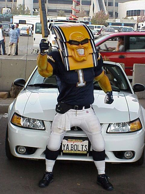San Diego Chargers Mascots - Boltman