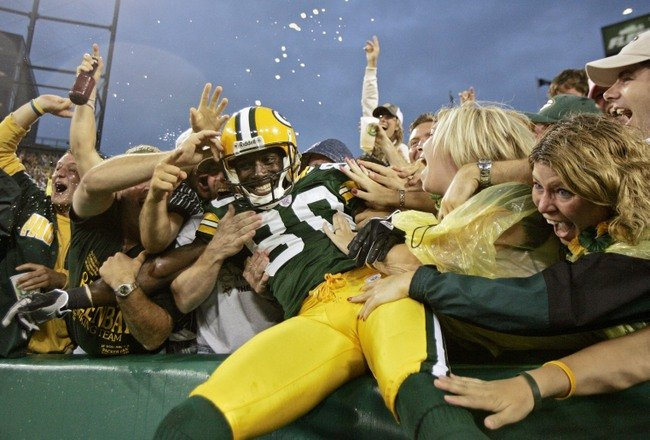 Football Fans - Lambeau Leap